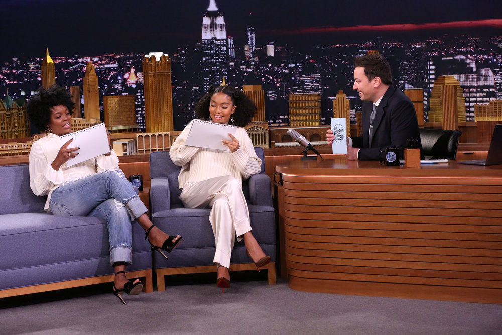 In Case You Missed It: Yara Shahidi And Her Mom Keri On The Tonight Show Starring Jimmy Fallon