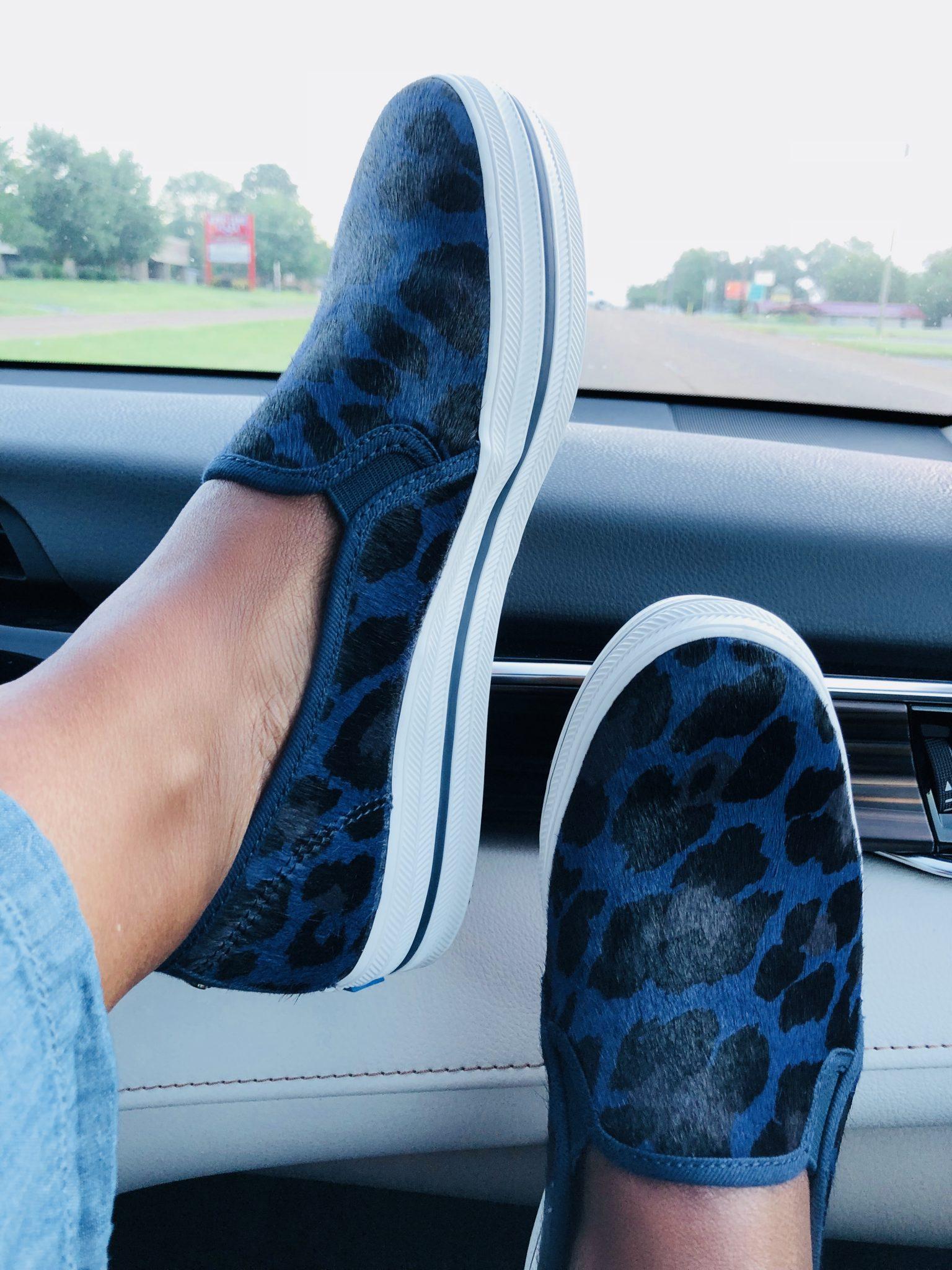 Loving These Keds x Kate Spade New York Triple Decker Calf Hair Slip Ons