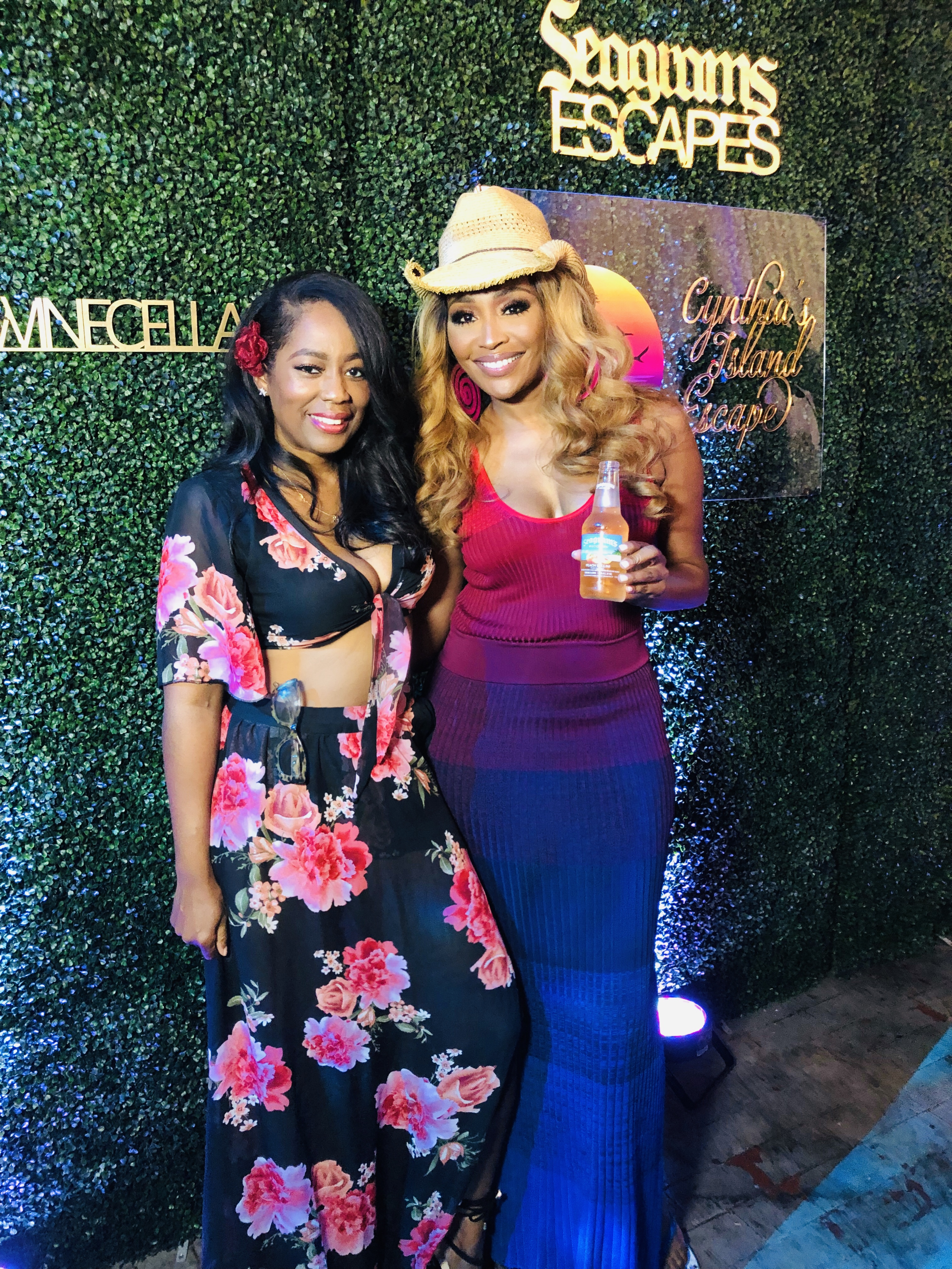 Cynthia Bailey's Seagram's Escapes Launch Party