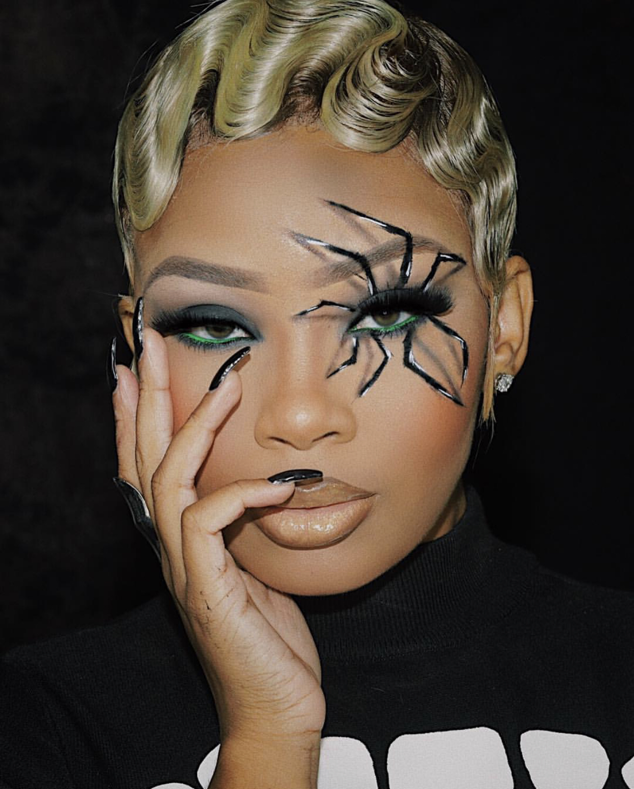 Get The Look: Aaliyah Jay's 3D Spider Makeup Tutorial