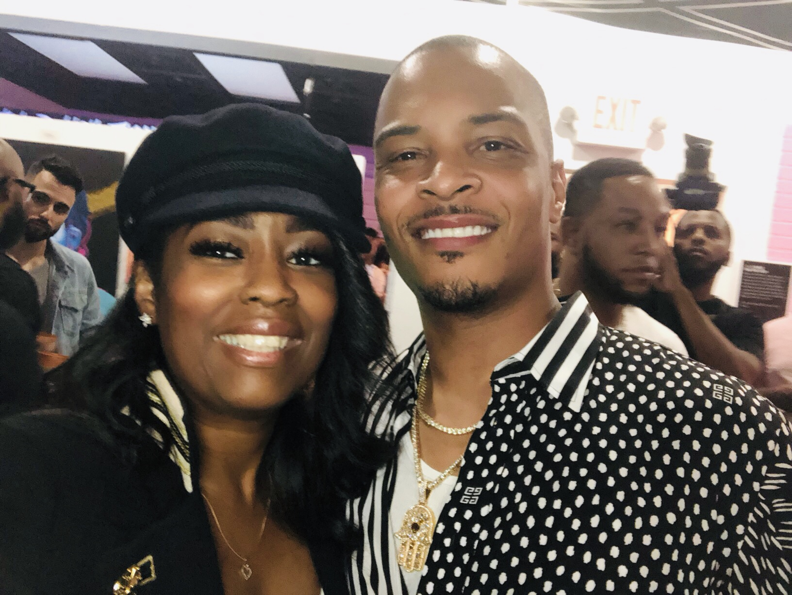 Rapper T.I.'s Private Album Listening Party At Trap Music Museum