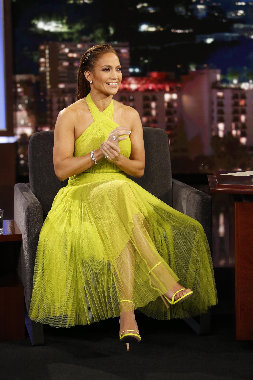 Wardrobe Breakdown: Jennifer Lopez On Jimmy Kimmel Live