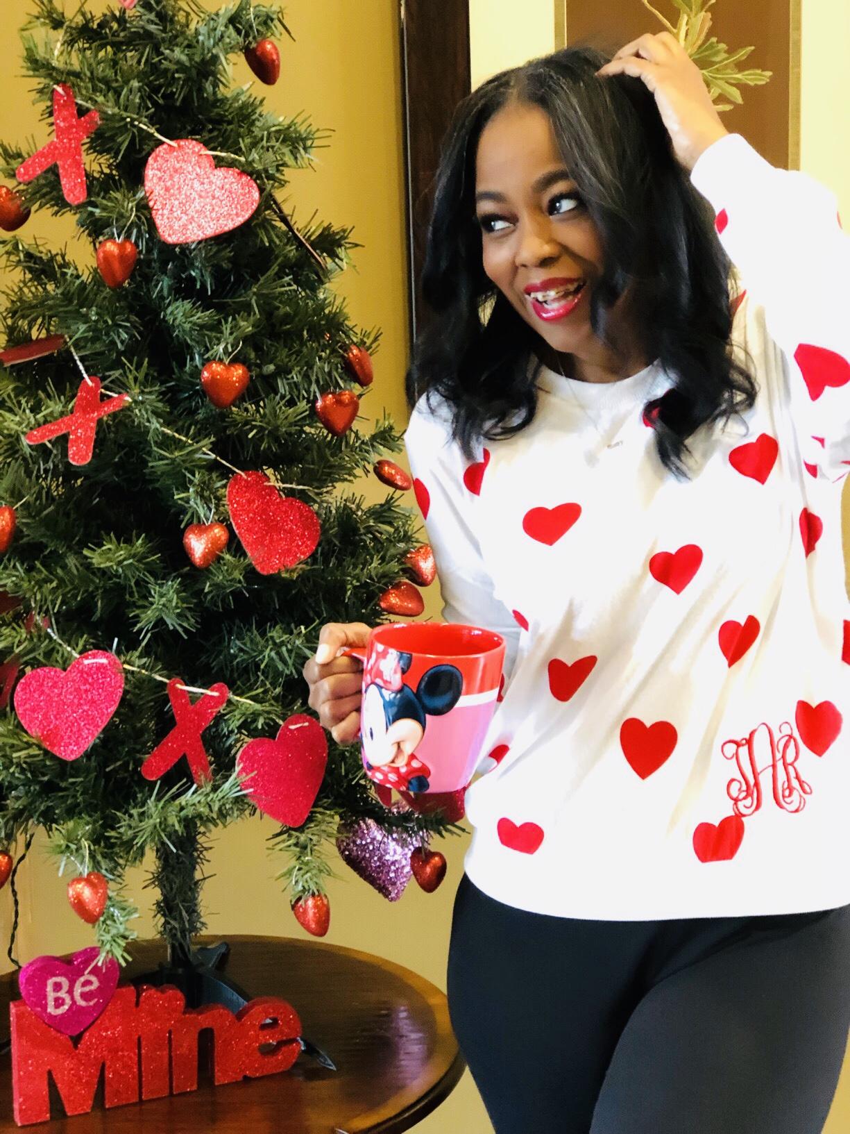 My Style: I Love Jewelry Valentine's Day Themed MonoBox Monogrammed Sweater