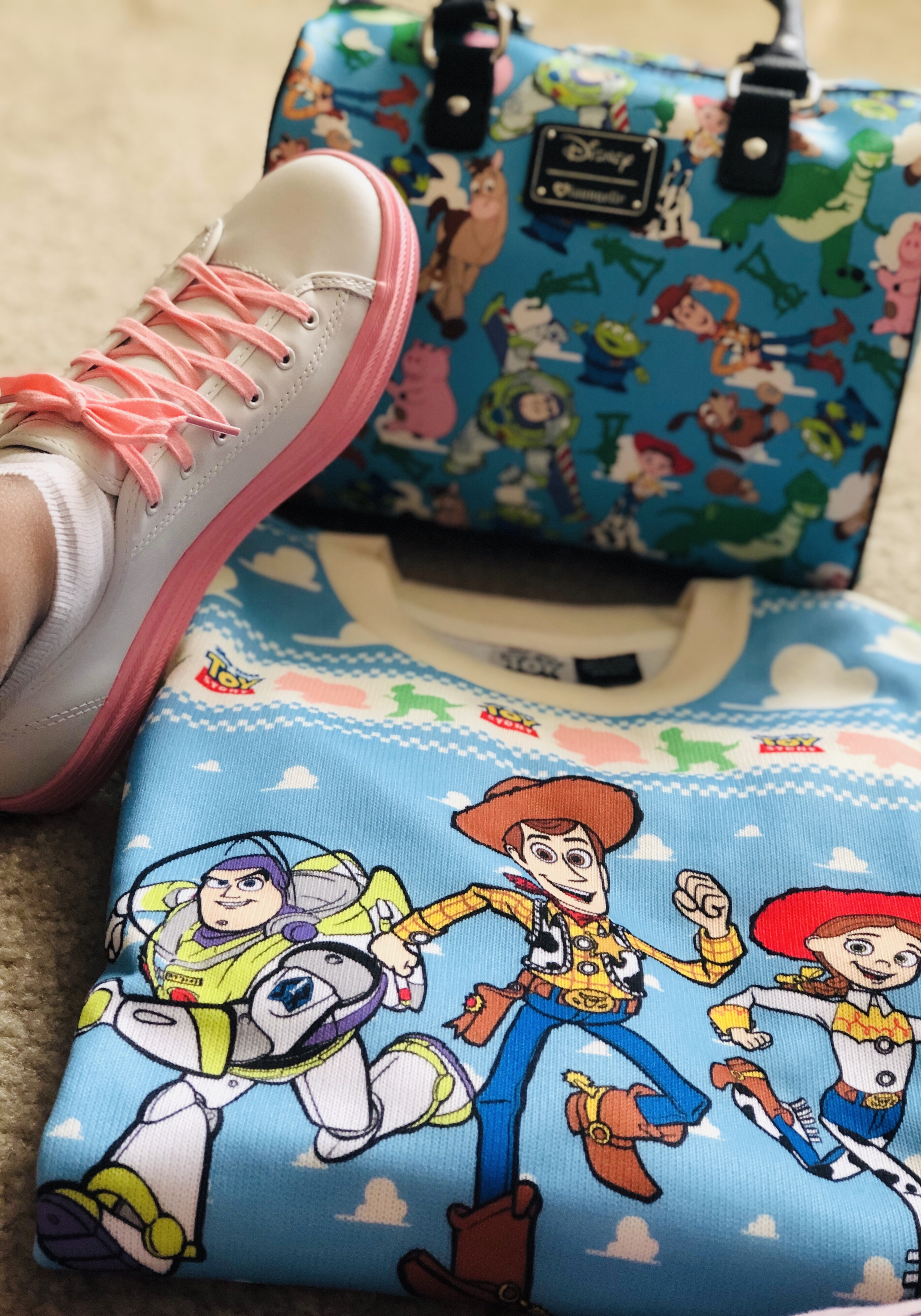 Fun Toy Story Sweater and Purse & A Press Trip To San Francisco