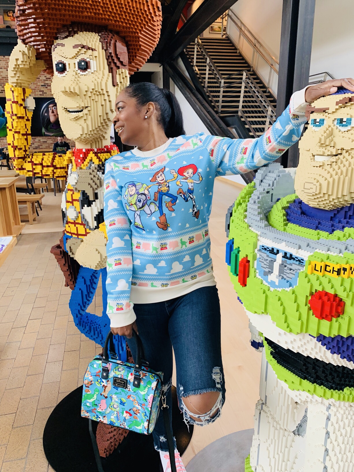 My Style: Toy Story Sweater & Purse While At Pixar Animation Studio