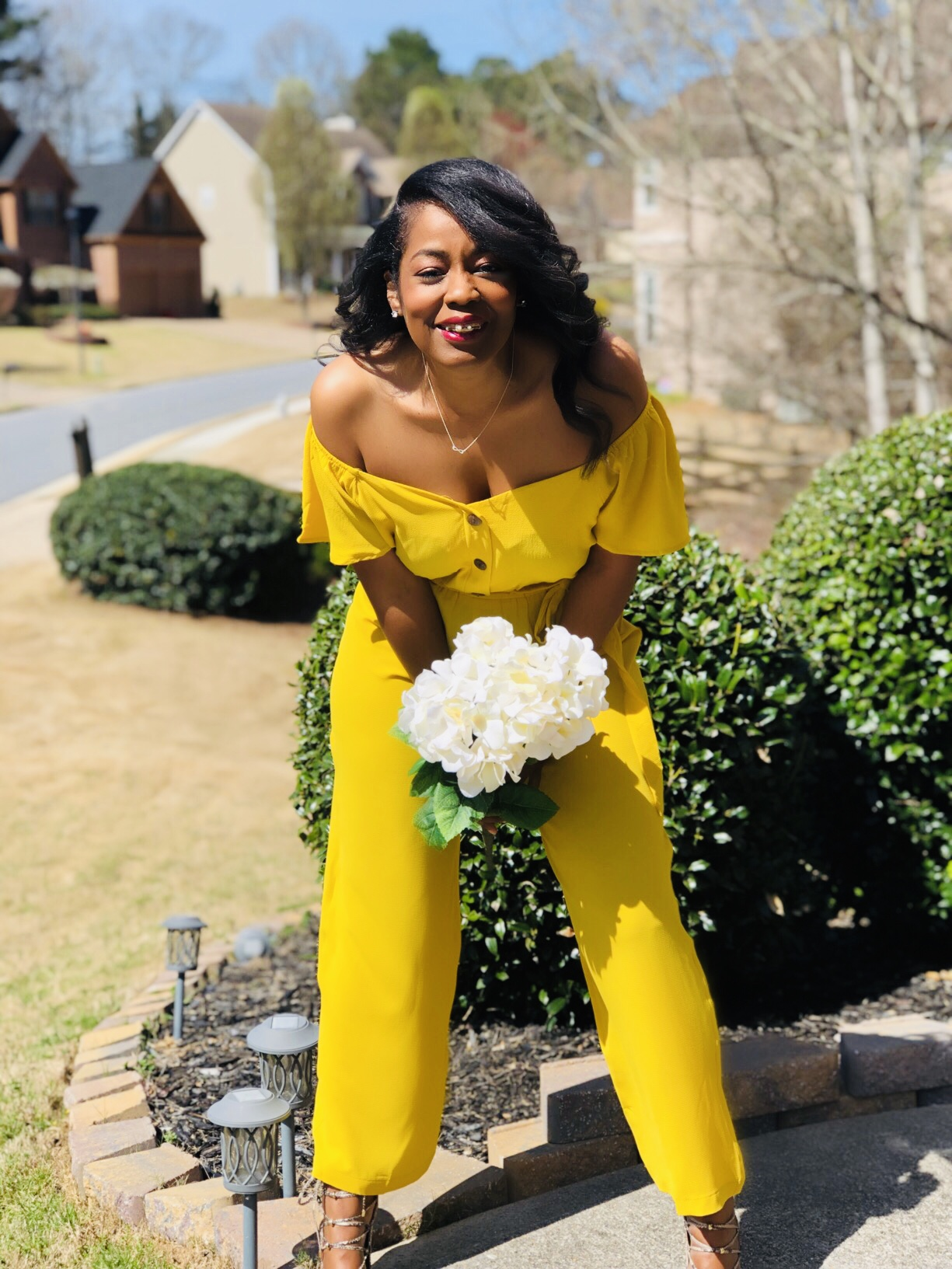 My Style: Yellow Off The Shoulder Jumper