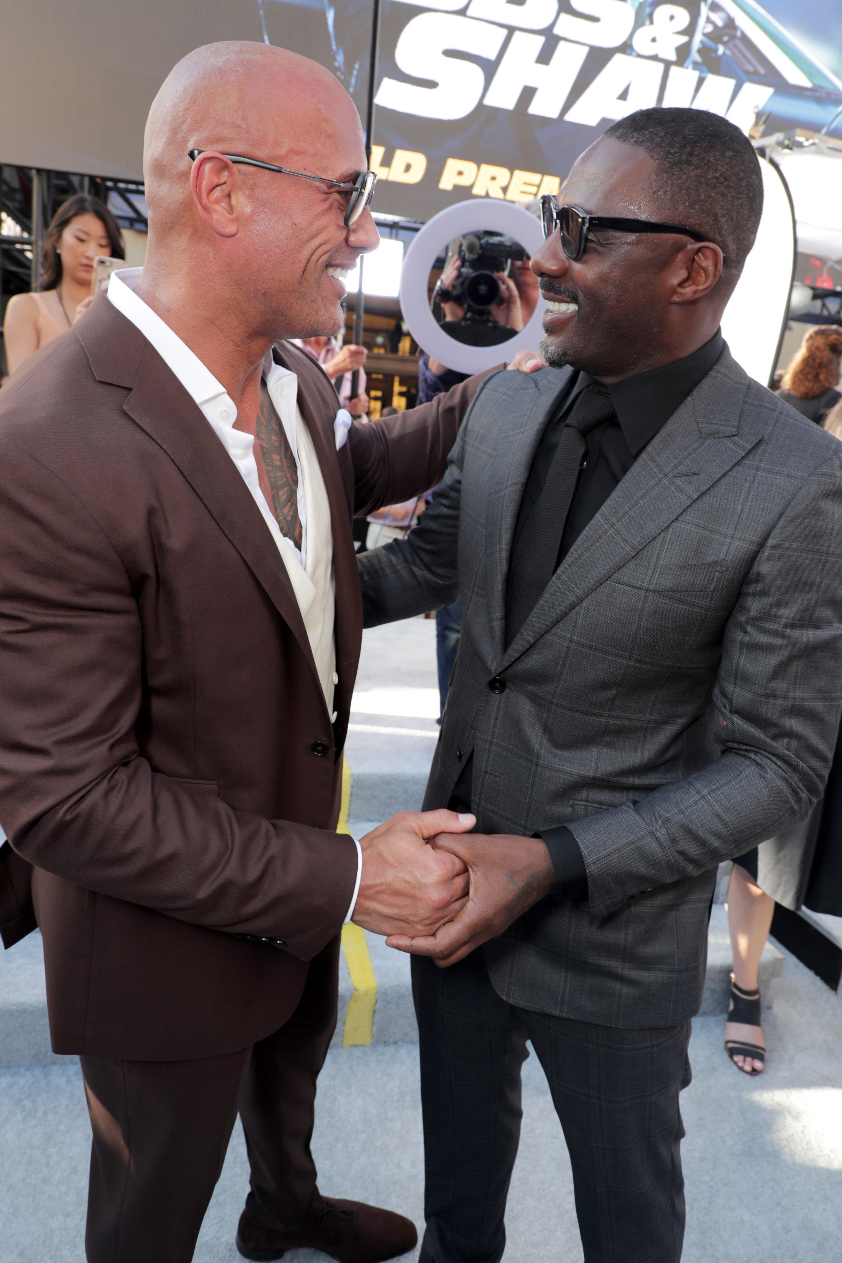The FAST & FURIOUS Presents: Hobbs & Shaw Cast Face-Off At The Dueling Red Carpet Premiere