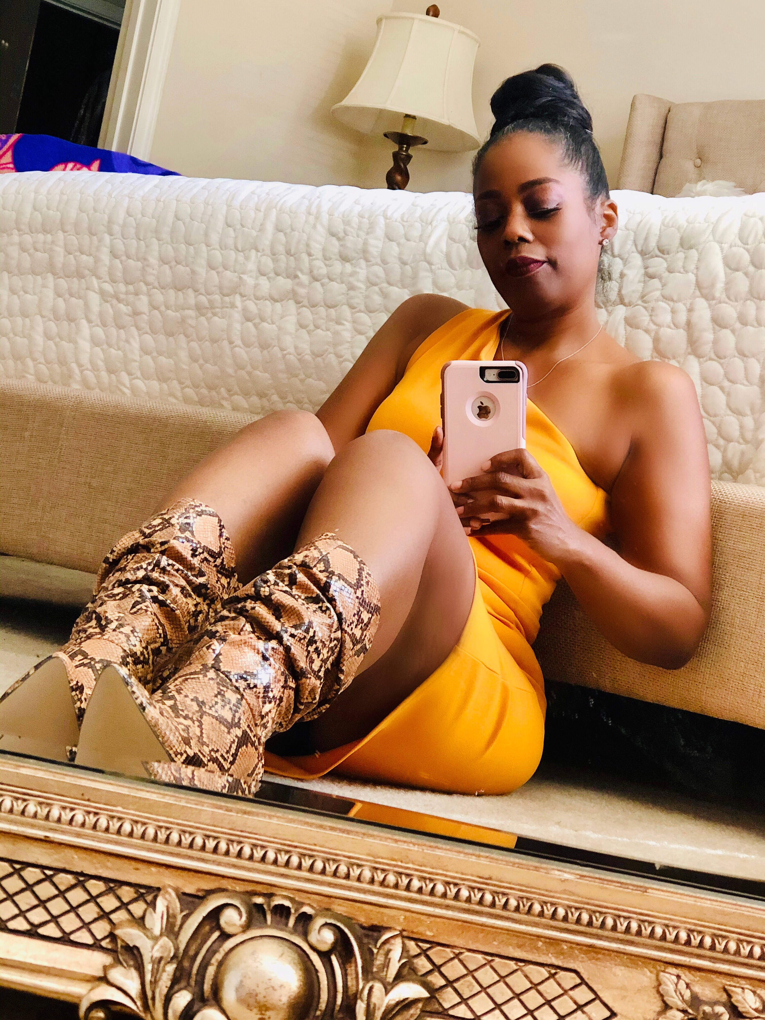 My Style: Carlee Slouchy Snakeskin Stiletto Boots