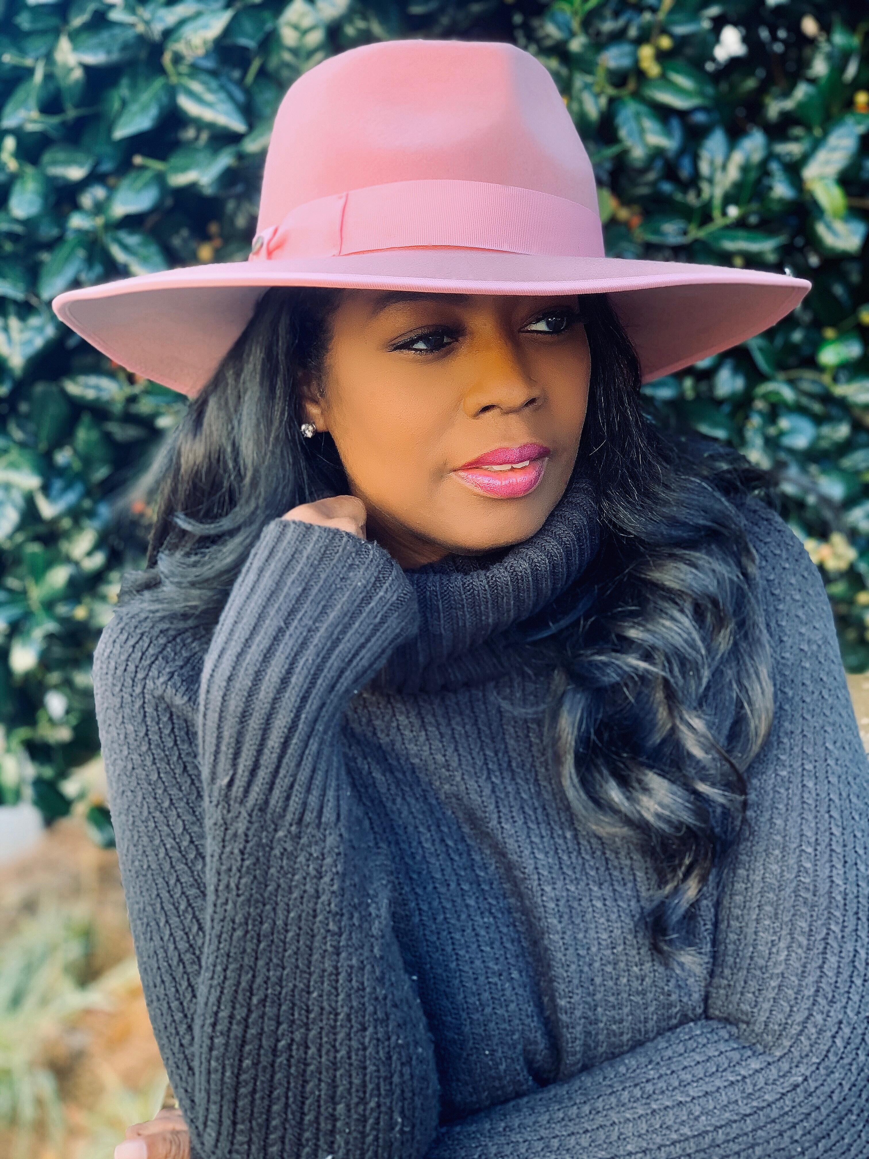 My Style: Capri Walrus Wide Brim Wool Felt Fedora Hat
