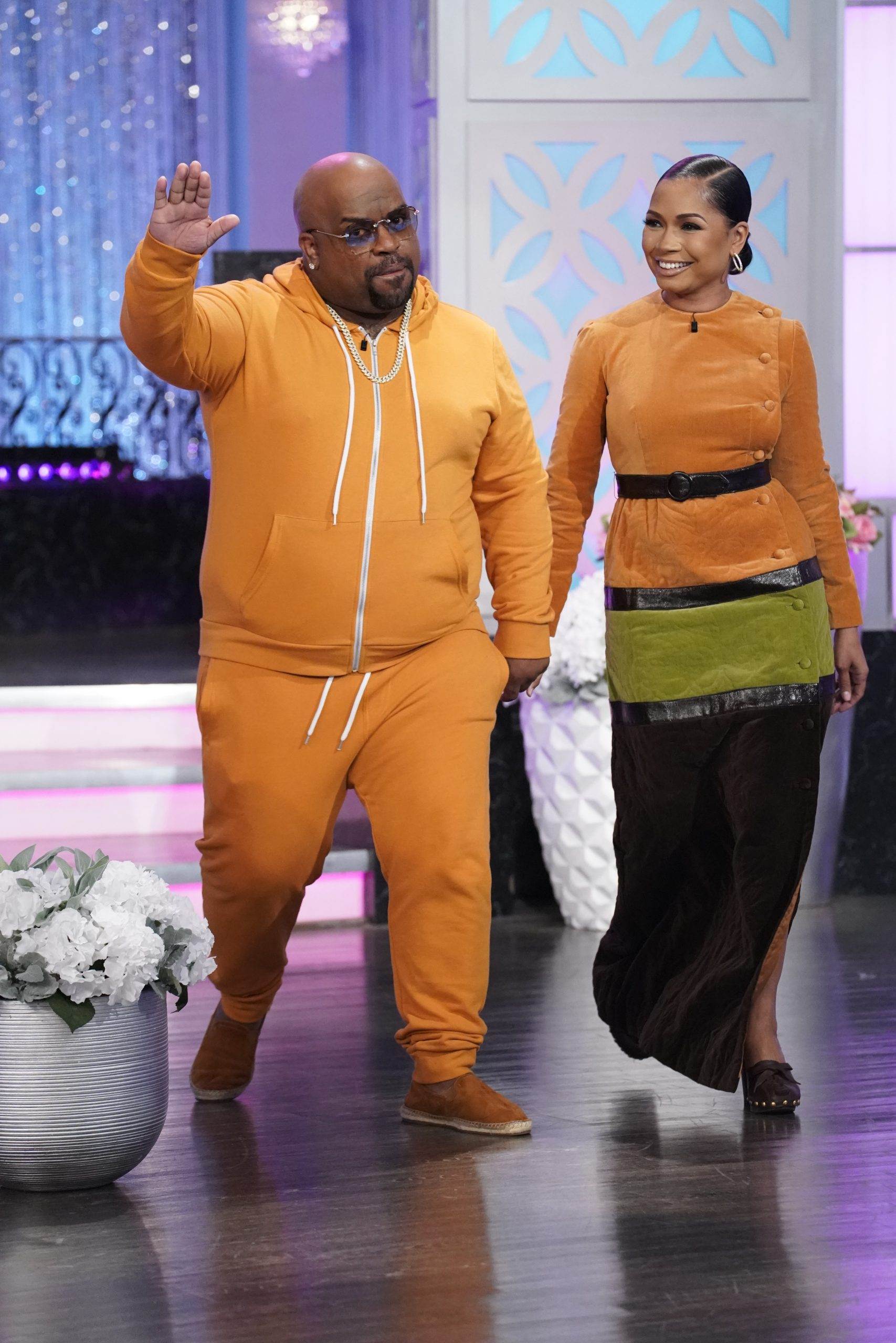 CeeLo Green & Fiancée Shani James Stop By The Real,Explains Why They Haven't Gotten Married Yet