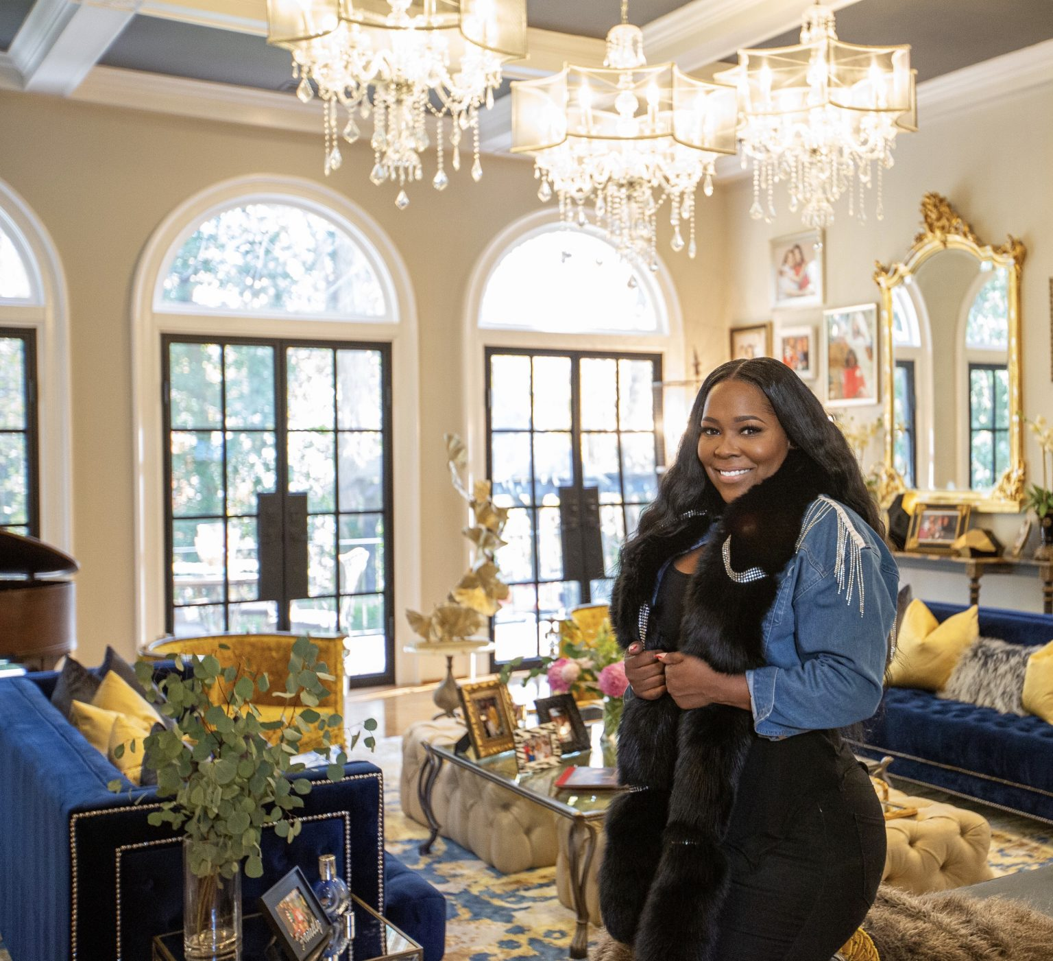Celebrity House Sitter Leah Taylor House Sits For Phaedra Park's Glam Mansion