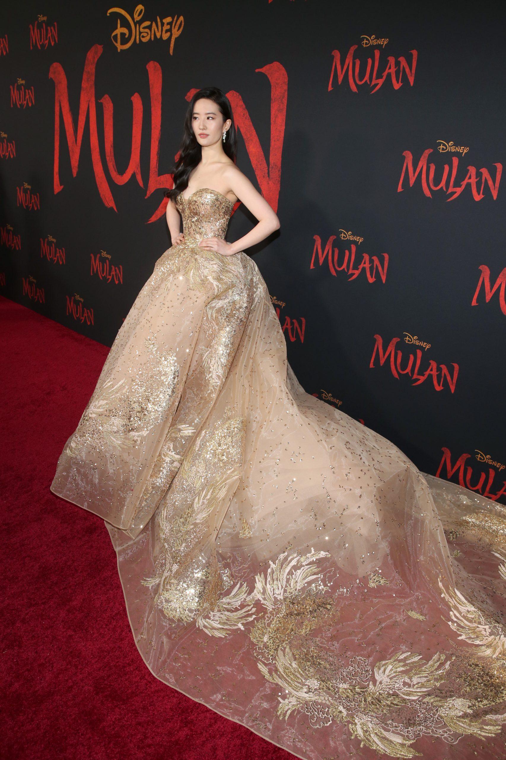 Wardrobe Breakdown: Yifei Liu At Disney's Mulan World Premiere