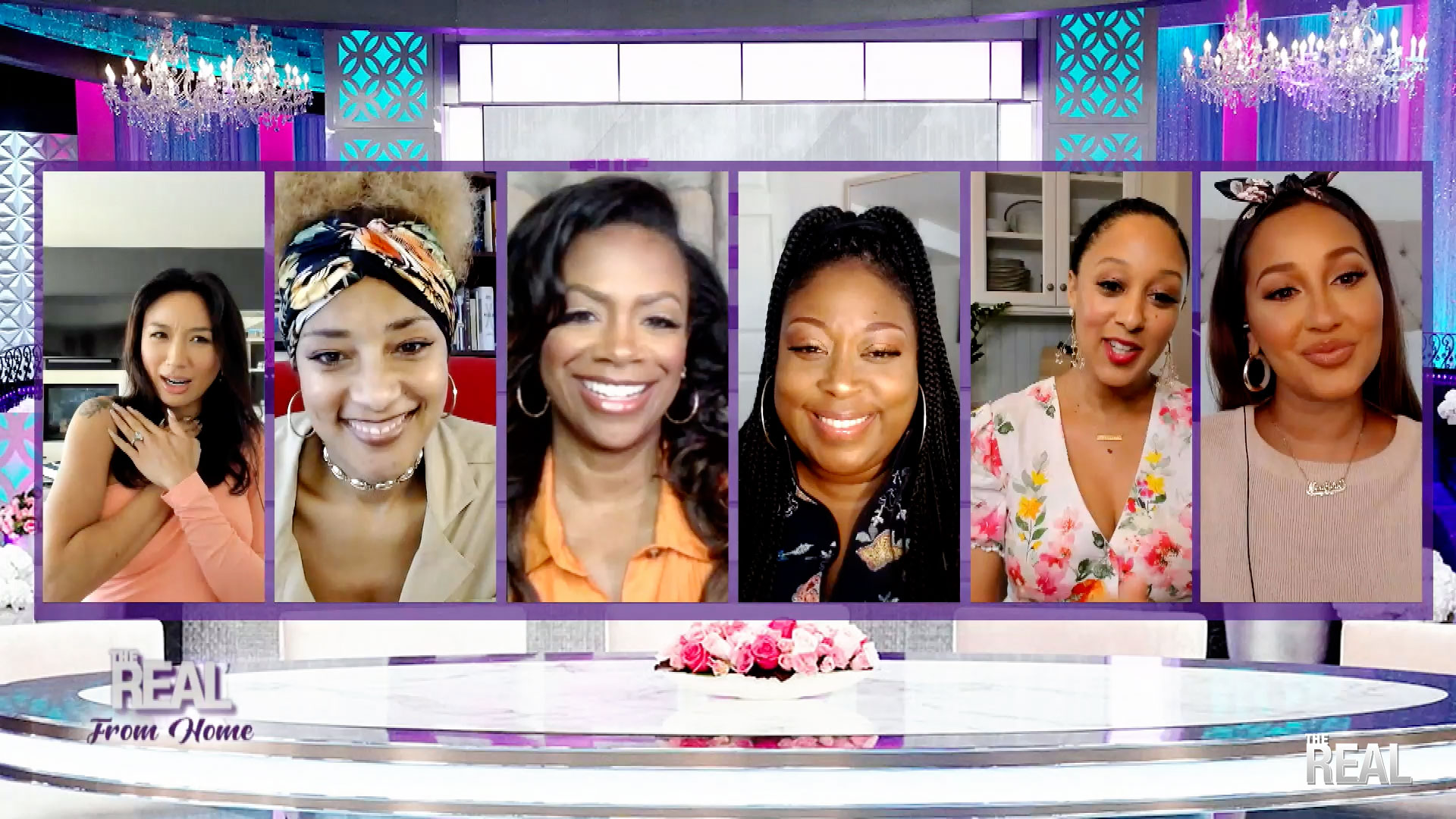 The Real From Home: That Time Adrienne Didn't Wear Pants To Do The Show From Home! And Kandi Burruss Drop In From Home!