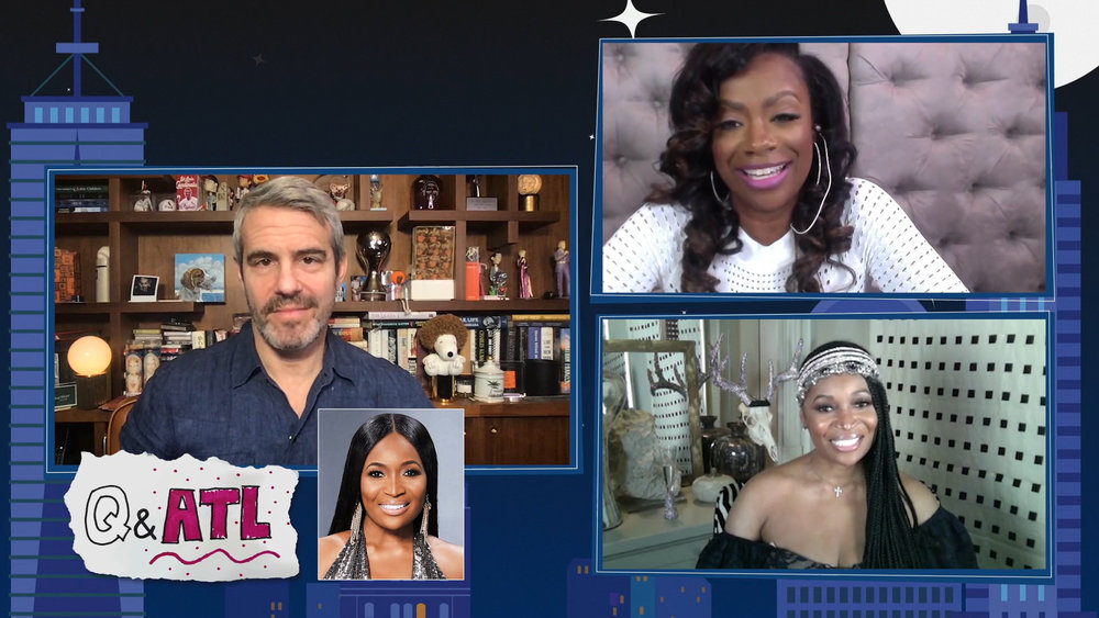 In Case You Missed It: Kandi Burruss And Marlo Hampton On Watch What Happens Live With Andy Cohen @Home