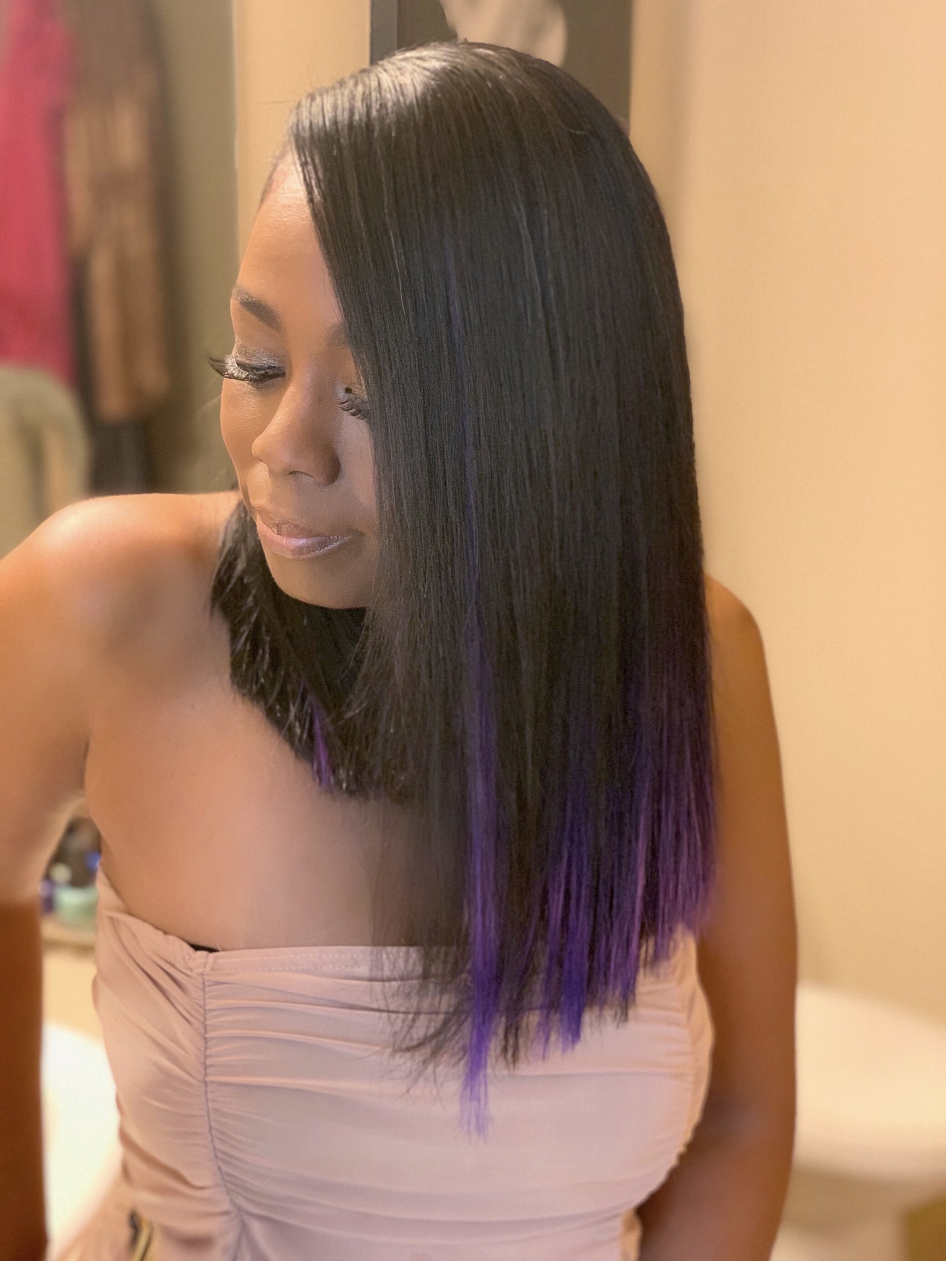 New Look: Purple Long Bob By Tyra In The City
