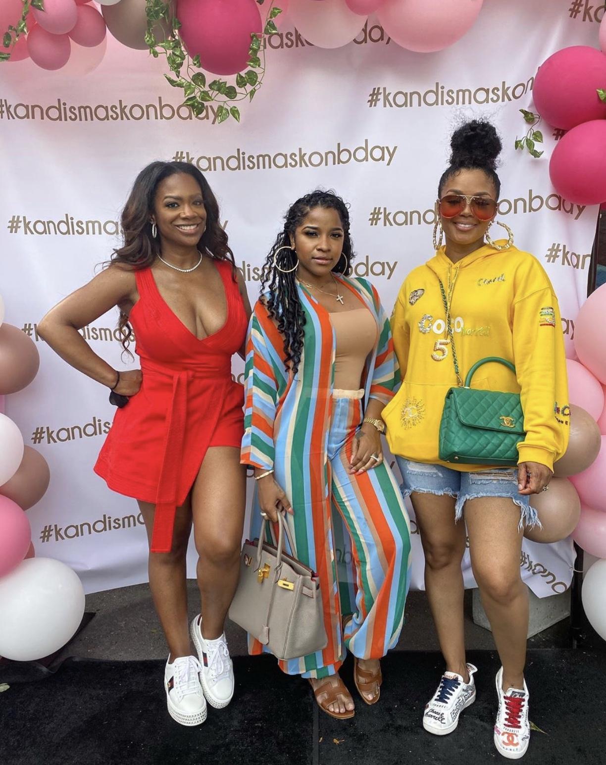 Wardrobe Breakdown: Kandi Burruss At Her #KandisMaskOn Birthday Party