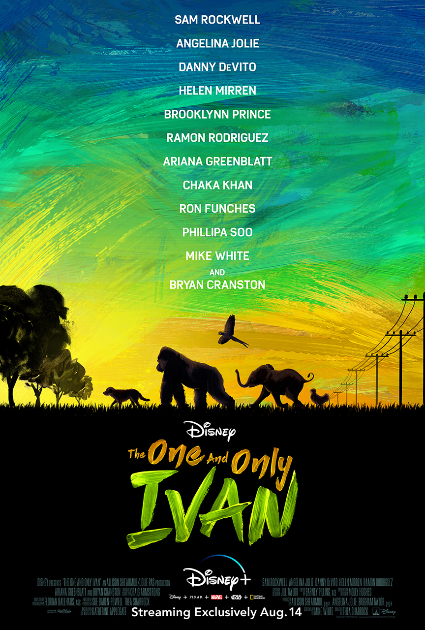 New Movie: The One And Only Ivan Starring Angelina Jolie, Sam Rockwell