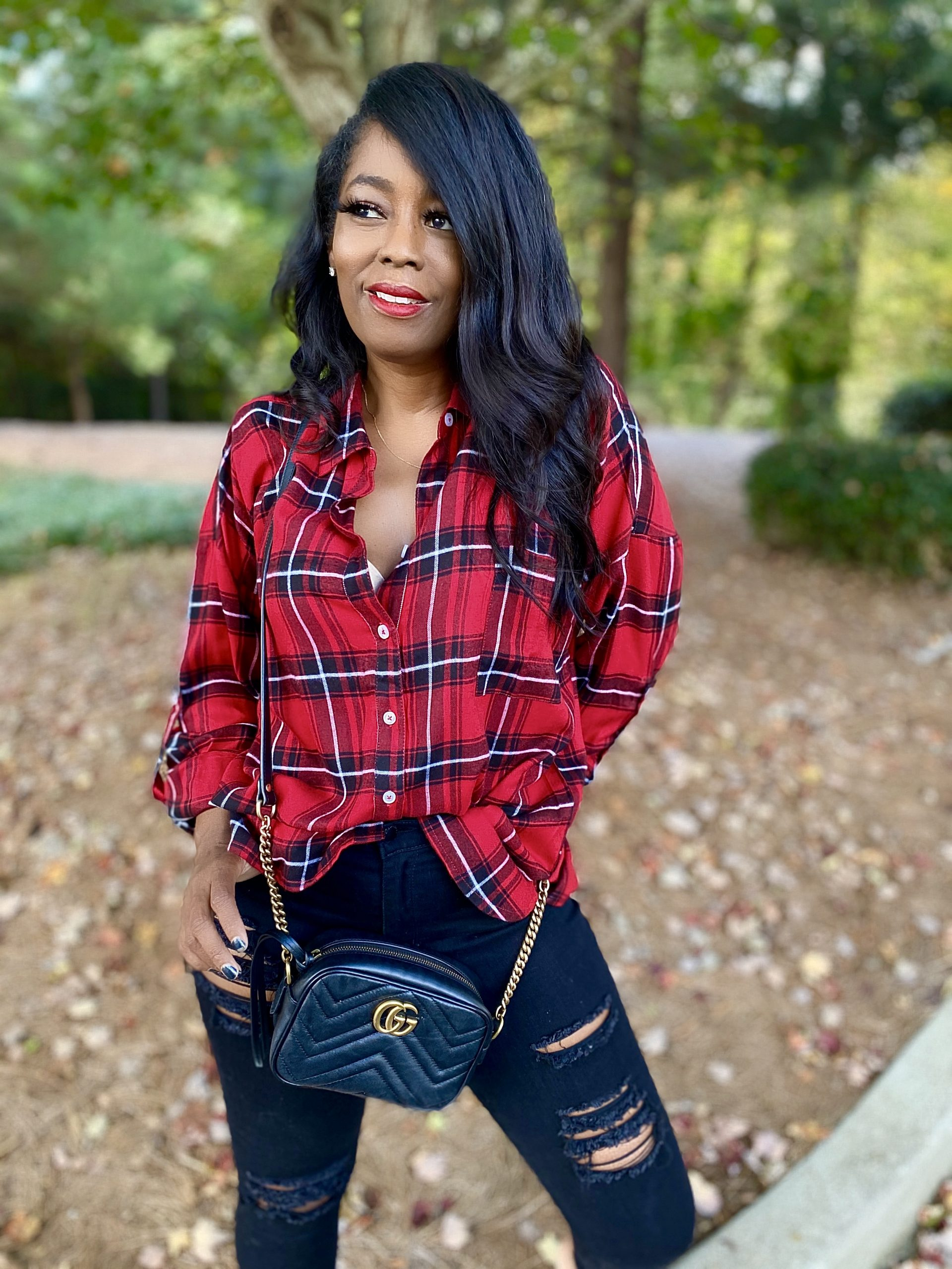 My Style: Collier Red Flannel Button Down
