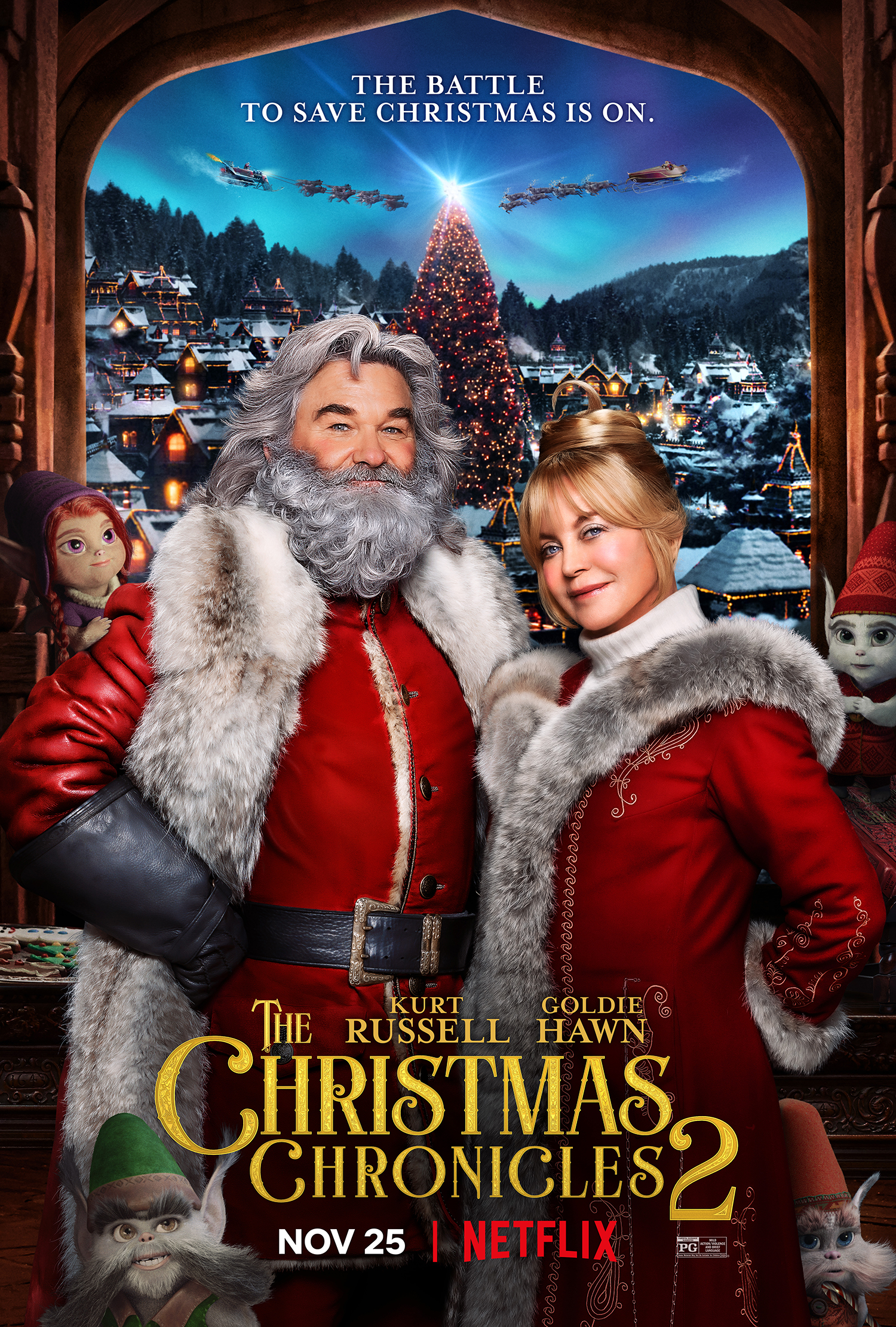 New Movie: The Christmas Chronicles Part Two, Starring Kirk Russell And Goldie Hawn