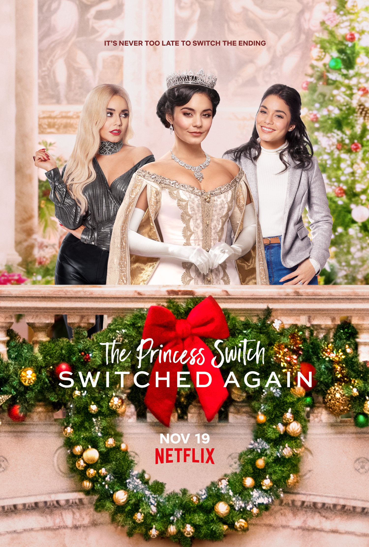 New Movie: The Princess Switch: Switched Again, Starring Vanessa Hudgens