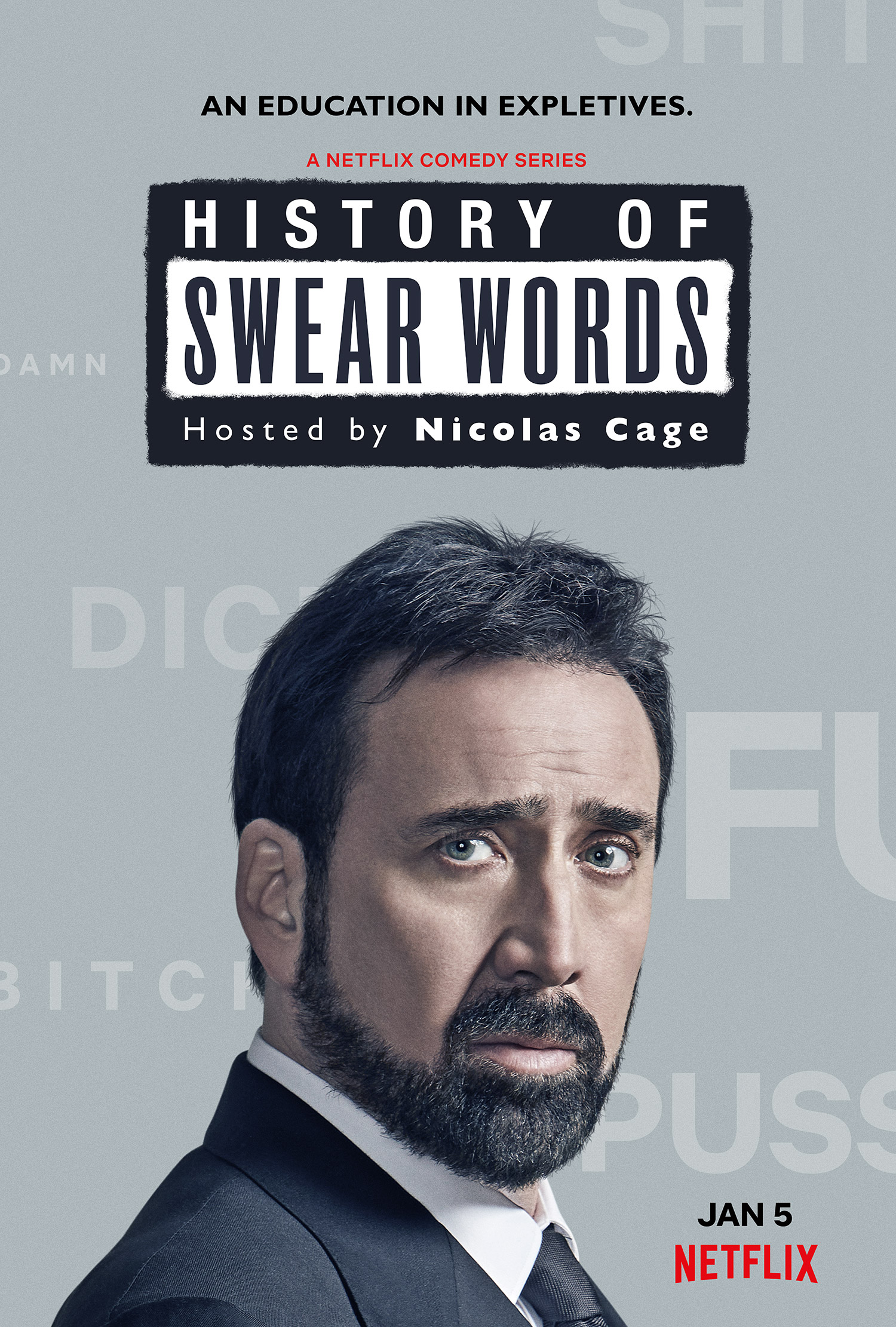 Netflix Comedy Series: History Of Swear Words Starring Nicolas Cage