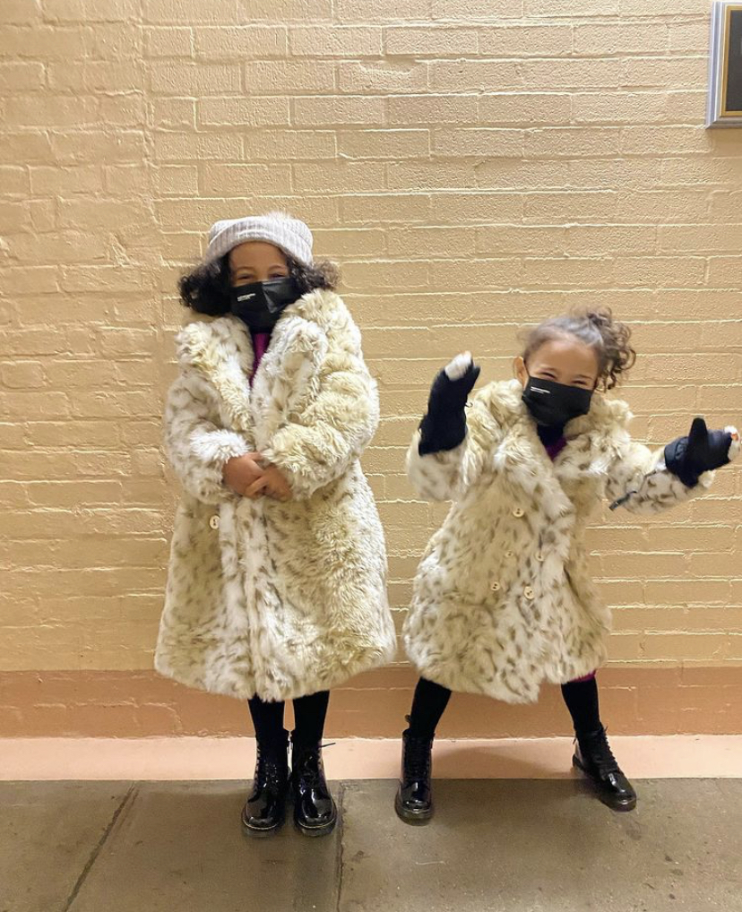 Wardrobe Breakdown: Kamala Harris' Nieces Amara & Leela Ajagu At Inauguration