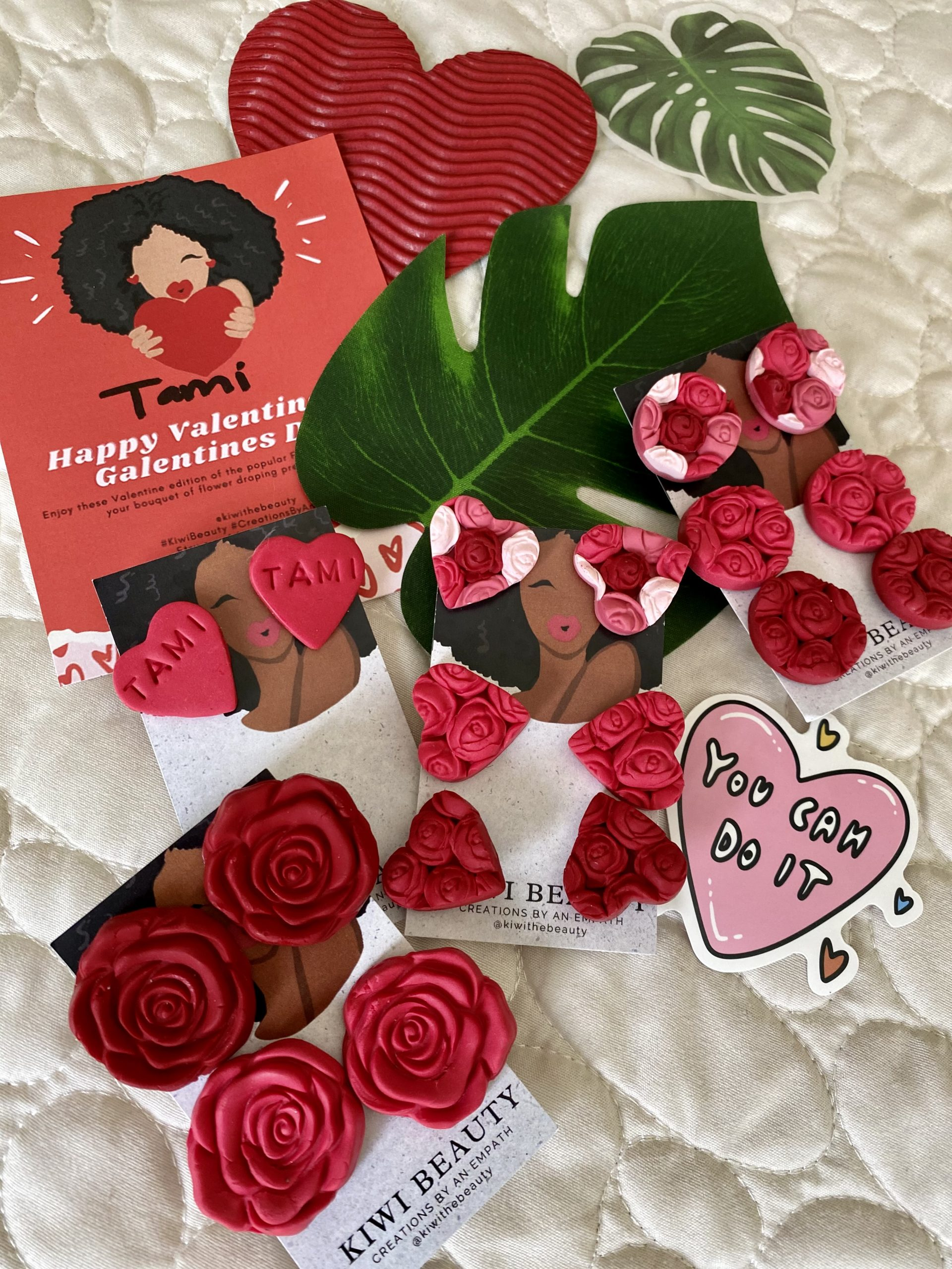 Kiwi Beauty 'Creations By An Empath' Galentine's Day Earrings