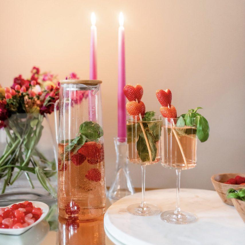 Recipe: Strawberry Basil Rose Sangria