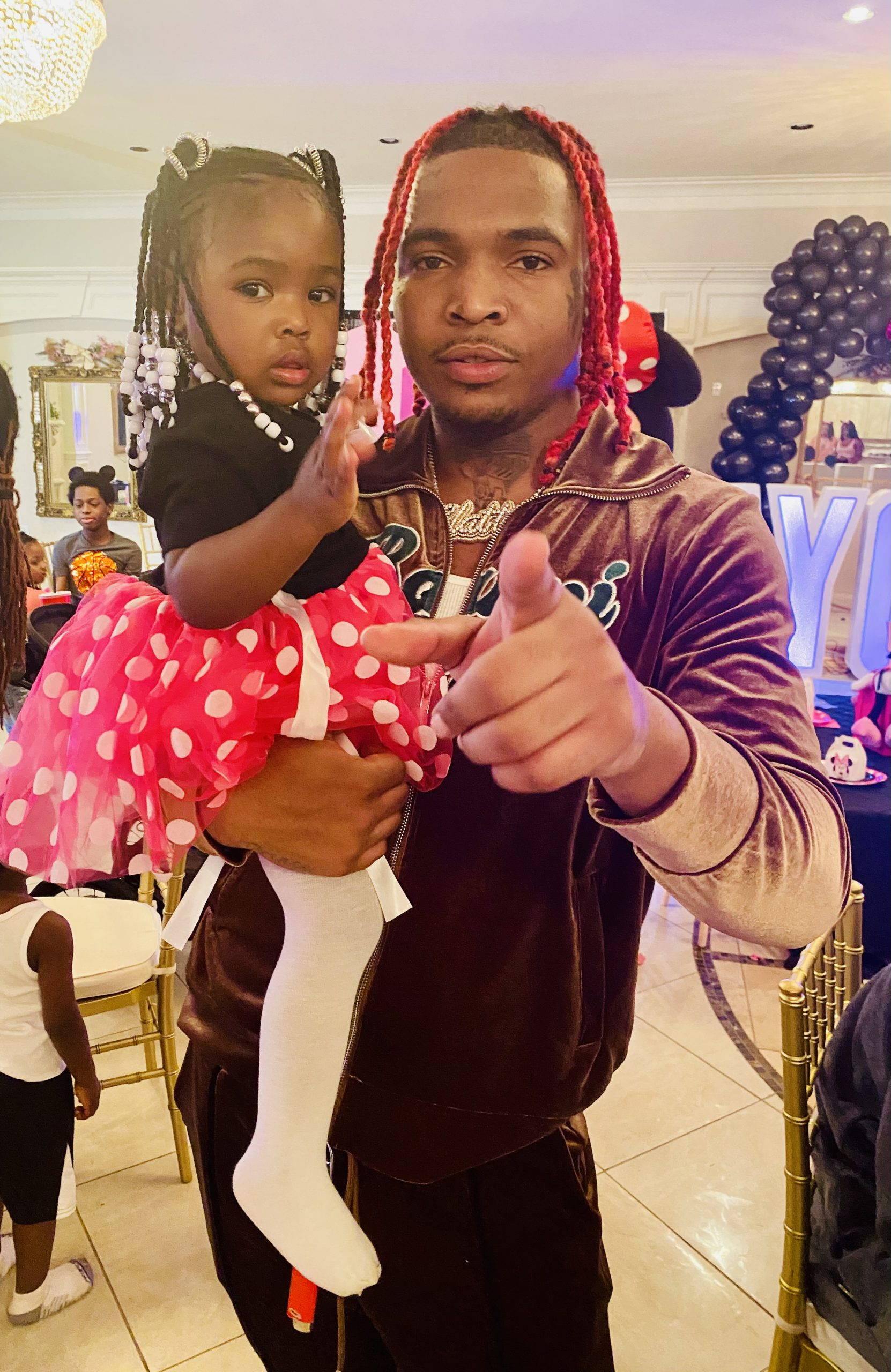 Rapper Lil Keed Throws Daughter Naychur Minnie Mouse-Themed Birthday Party