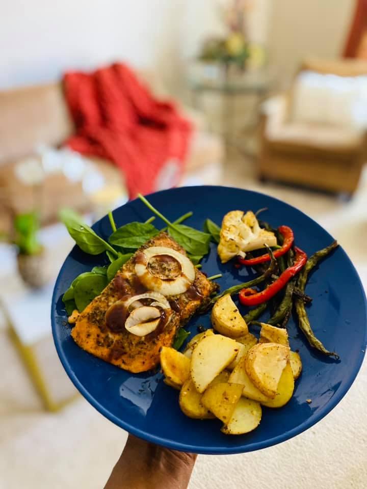 Recipe: Dijon-Roasted Trout & Potatoes