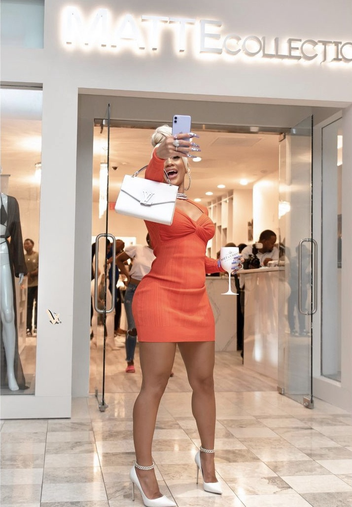 Rapper Saweetie Makes Appearance At Grand Opening Of MATTE Collection In ATL