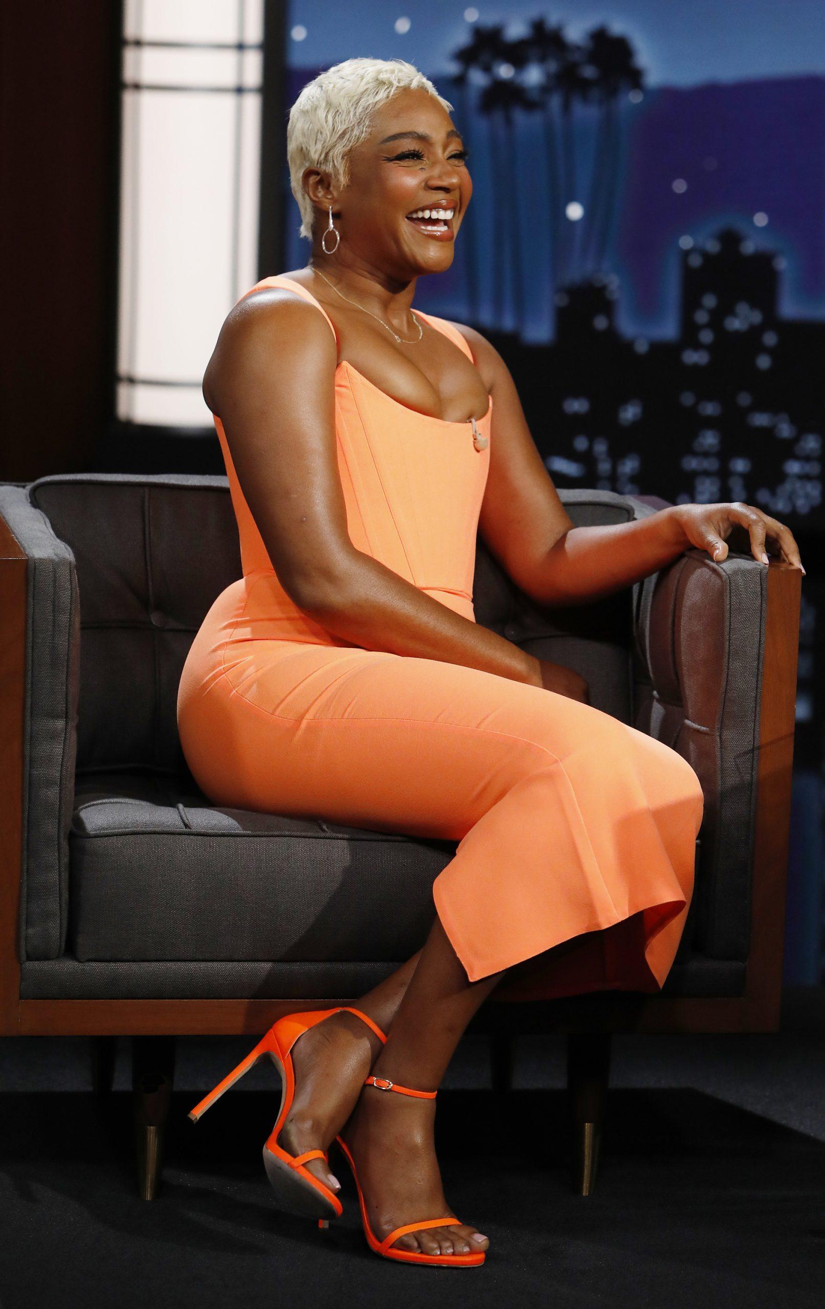 Wardrobe Breakdown: Tiffany Haddish On 'Jimmy Kimmel Live'