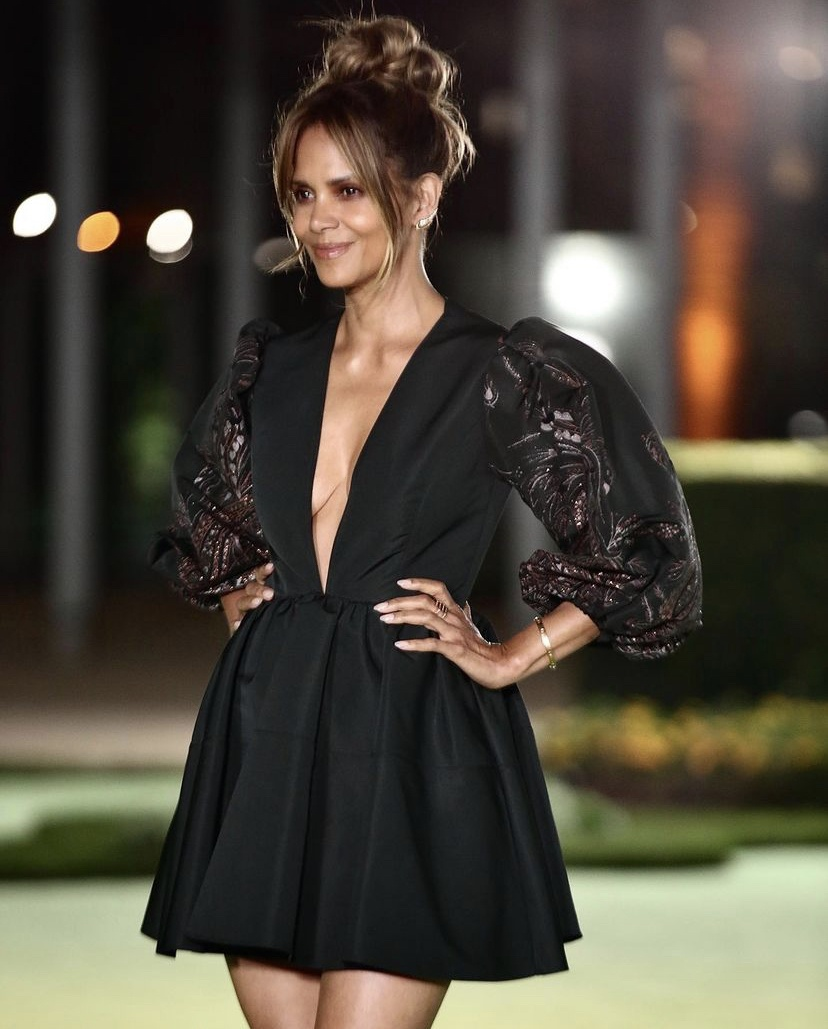 Wardrobe Breakdown: Halle Barry At Opening Of Academy Museum In L.A.