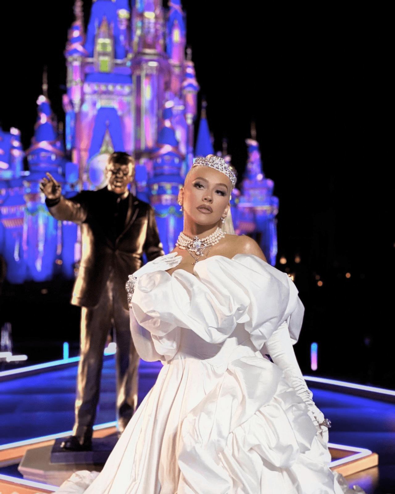 Wardrobe Breakdown: Christina Aguilera At Walt Disney World 50th Celebration